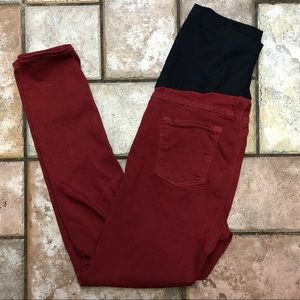 Just black maternity red skinny jeans GUC Sz 28.